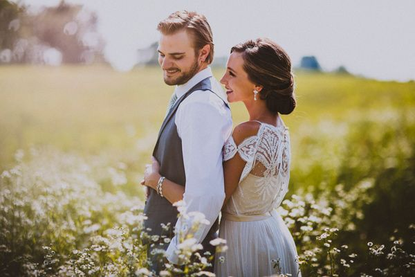 delanie + kayle   Omelia Dress by Catherine Deane for BHLDN   forged in the north photography   via: ruffled   #BHLDNbride