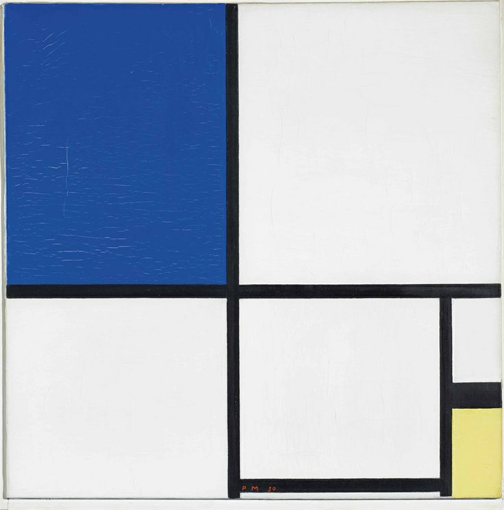 Piet Mondrian  Composition No. II with Blue and Yellow