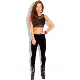 Black Velvet Leggings  We are totally crushing on these velvet leggings this season , velvet is so hot right now. Team with a crop tee, beanie and biker boots for a cool urban chic look.   ♥Model Wears size 8 ♥93% Polyester 7% Elastane
