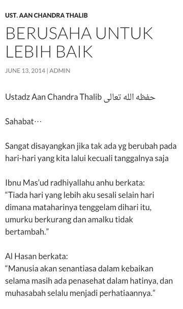 Berusaha untuk lebih baik by Ustadz Aan Chandra Thalib (1)