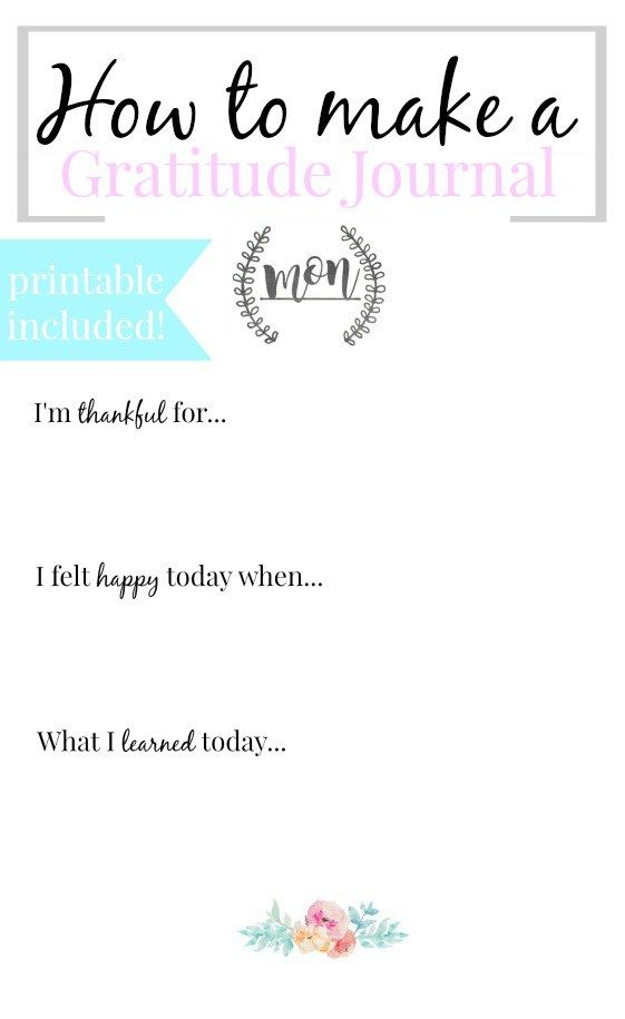 Here is how I use and make my gratitude journal! Gratitude journals are a great way to teach yourself how to focus on the positives in your life. I also included a free printable to help you make your own!