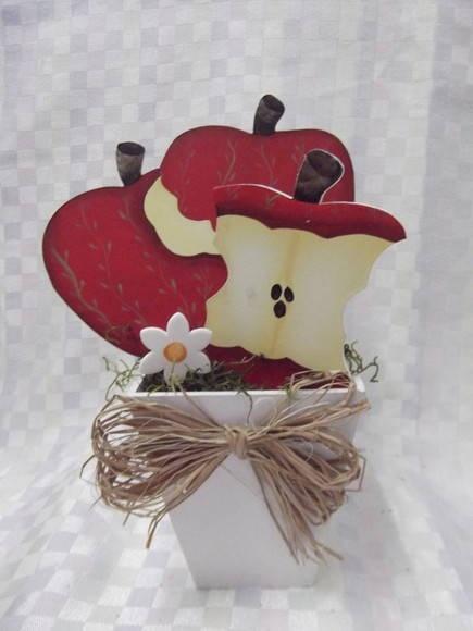 Vaso maçãs em mdf | Artesanatos Ingrid Carvalho | 170055 - Elo7