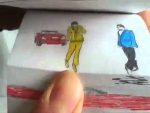 Amazing Gangnam Style Animation....someone drew out the entire gangnam style video in a flip book...it's amazing.