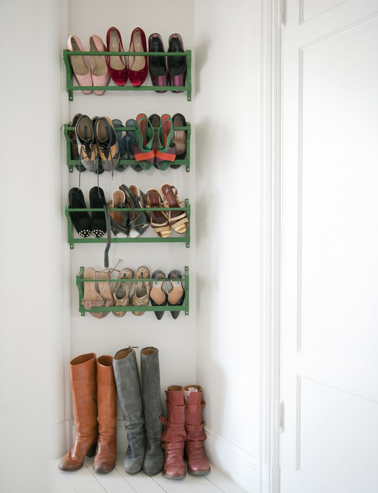 This storage makes your shoes a work of art #closet #entry #organization