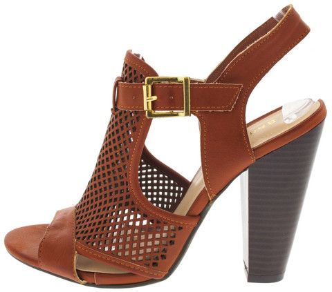 MASH10 COGNAC PERFORATED CONE HEELS ONLY $10.88. All women's shoes, heels, wedges, sandals, and flats are $10.88 a pair.
