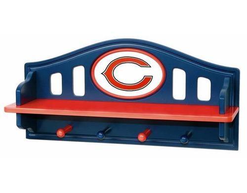 Chicago Bears Kids Wall Shelf Coat Rack