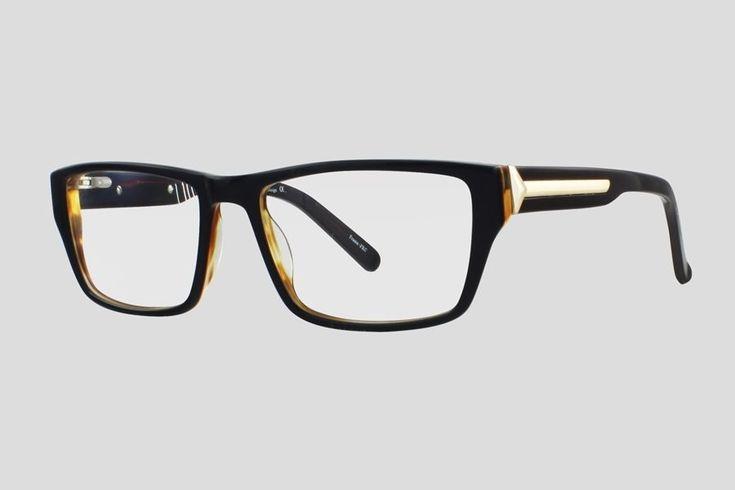 #Brillen van Reor. Dit is de Buckley (art. nr. F10.706UBR), complete bril vanaf € 34,90. #Montuur van zwart met bruin acetaat. Verkrijgbaar in meerdere kleuren.
