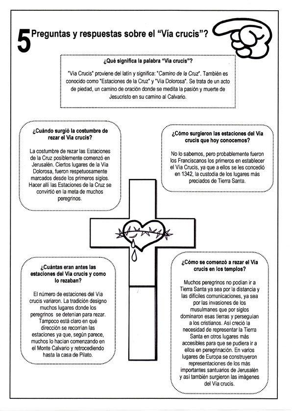 La Catequesis: Explicación sencilla sobre el Vía Crucis para niños