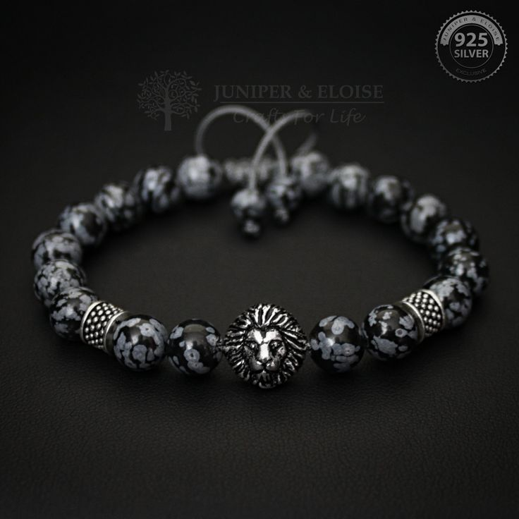 Lion Bracelet Gift For Him, 925 Silver Mens Jewelry, Lion King Charm Bracelet, Bracelet Gift, Braccialetto, Pulsera, Armband, ブレスレット by JuniperandEloise on Etsy