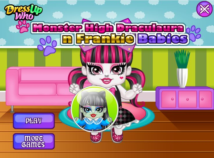 Monster High Draculaura N Frankie Babies - The two little monsteristas are getting ready to feed their cute pets, but since they have so little experience, they would need a precious helping hand to properly fulfil the pet's needs. Once you're done dealing with the first task, you can move to the next page of the game where you get to dress each cutie piel in chic baby outfit of your choice! Have a great time, ladies!