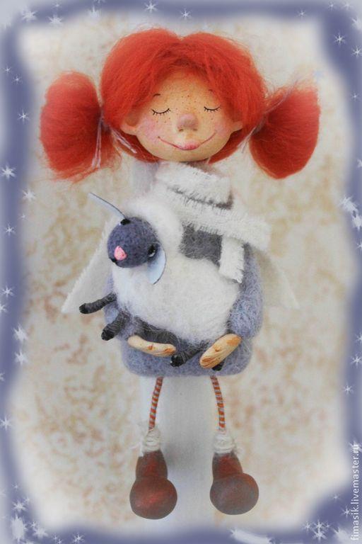 Купить Лиечка - рыжая девочка, Рыжая, оранжевое настроение, теплый подарок, душевные вещи
