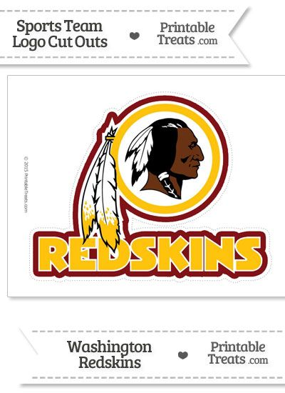 Large Washington Redskins Logo Cut Out from PrintableTreats.com