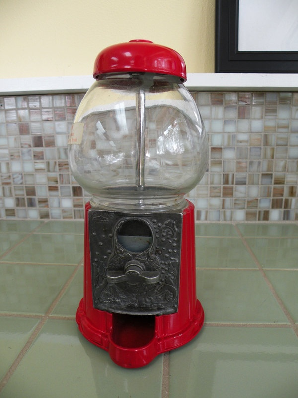 Carousel Gumball Machine Red 1985 Candy Circus. $25.00, via Etsy.