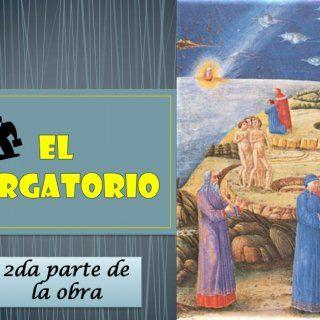 2da parte de la obra   • Atraviesan el Purgatorio donde se despiden Dante y Virgilio ya que Virgilio es un pagano y no puede entrar al Paraíso   • Es un. http://slidehot.com/resources/divina-comedia-el-purgatorio.63806/