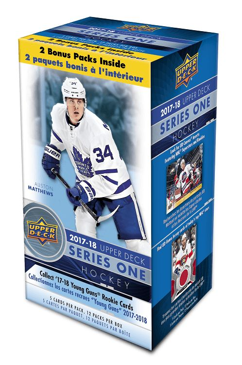 The Wait is Over, 2017-18 Upper Deck Series One Hockey is Here. Featuring The Finest Game-Action Photography on The Market.  Collect The Highly Sought After Young Guns Rookie Cards, Inserted 1 in Every 6 packs.