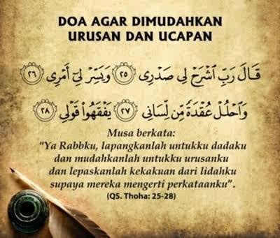 Doa dimudahkan urusan :)