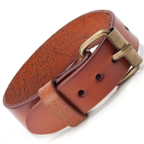 6c68471528aa R B Bijoux - Bracelet Homme - Manchette Fine   Boucle Style Bracelet de  Montre - Cuir