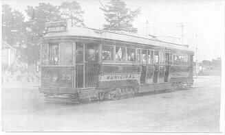MP 387. Wattletree Road at Burke Road tram terminus, 1912.