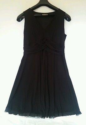 Jaqui E Ladies Dress Black High Waist Aline Occasion Stretch Sleeveless Sz Large