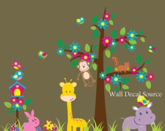 Vivero selva etiquetas de la pared etiqueta de por WallDecalSource