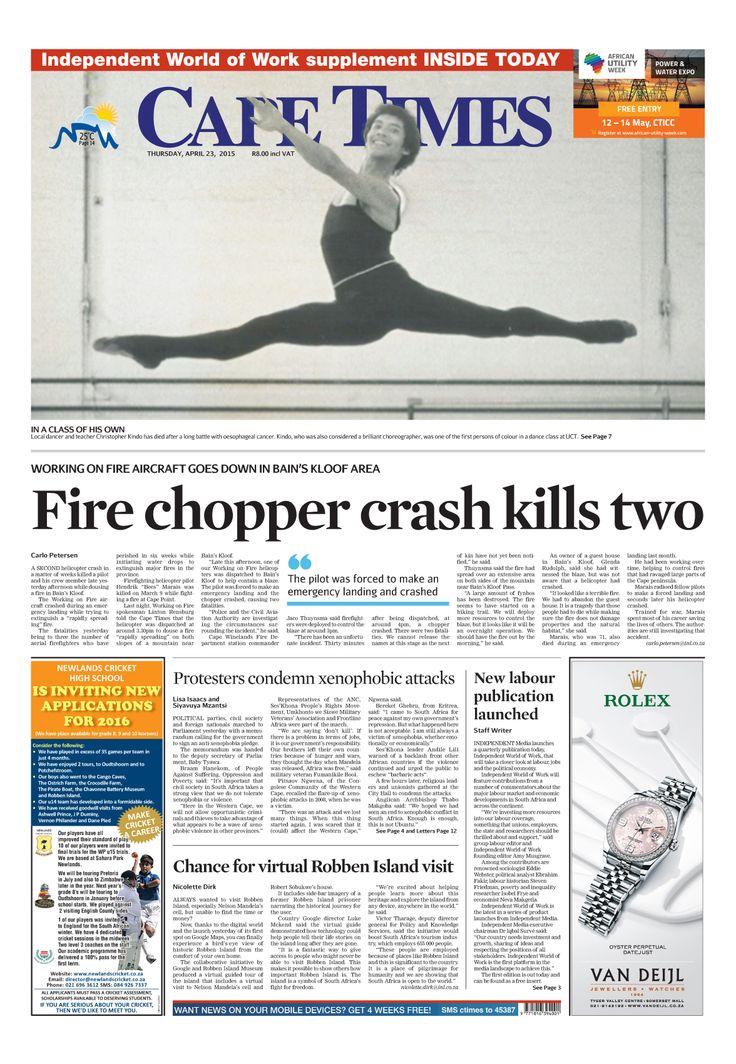 News making headlines: Fire chopper crash kills two