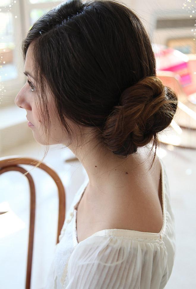Easy Hairstyles For Medium Length Hair At Home : Best 25 diy wedding chignon ideas on pinterest chignon