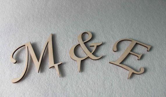 Wedding Gift Cake Topper Initial Accessory Monogram Wedding Cake Decoration Supplies