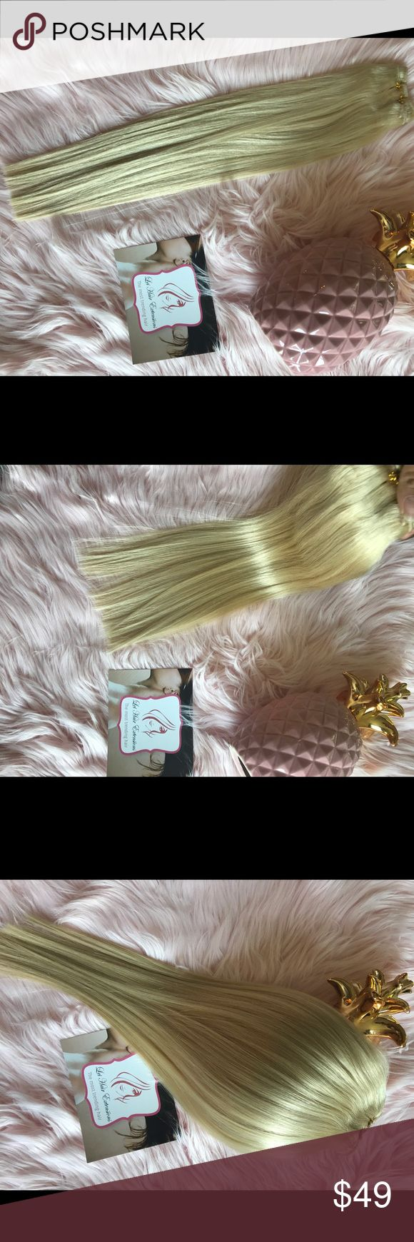 """Extra blond human hair Brand new 100% human hair extensions 18"""" weft *soft and healthy hair  *you can style, straight, colored. *100g weight  It takes about 120g to get a great hair length it all depends on you if you like a thicker hair maybe you should have 2 sets to desire look. Accessories Hair Accessories"""
