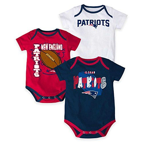 New England Patriots Bodysuit 3-Point Spread Baby Creeper Set  https://allstarsportsfan.com/product/new-england-patriots-bodysuit-3-point-spread-baby-creeper-set/  100% Cotton Machine washable Officially licensed