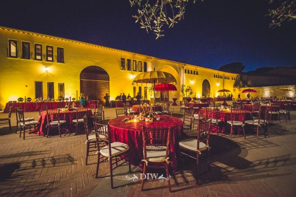 Indian wedding in Tuscany - Il Borro wedding reception| Distinctive Italy Weddings