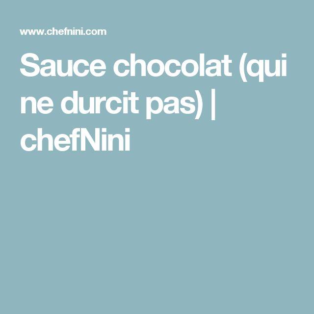 Sauce chocolat (qui ne durcit pas) | chefNini
