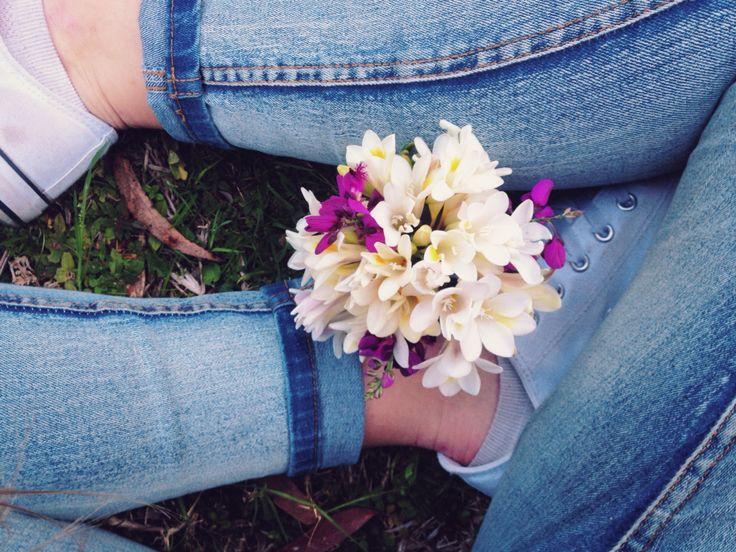 freesias are so beautiful #flowers #bouquet #flower #weddingbouquet #spring #winter #style #fashion #denim #jeans #shoes