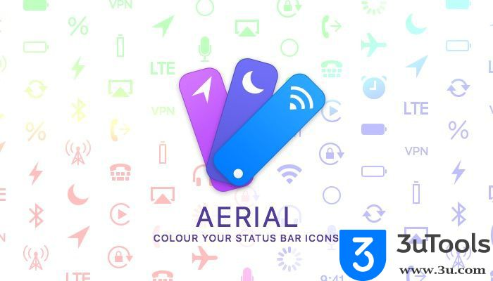 Aerial: Color Your Status Bar Icons http://3utools.blogspot.com/2017/02/aerial-change-color-of-items-in-iphones.html
