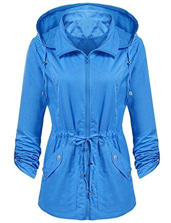 Cnlinkco Women Waterproof Hooded Raincoat Lightweight Rain Jacket Coat (Detachable Hood) Review