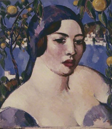 John Duncan Fergusson - Head of a Lady