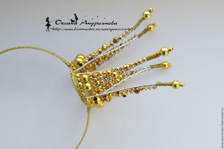 Купить Золотая корона Царевны. Корона на ободке. Корона из проволоки. - золотой, корона, корона на голову