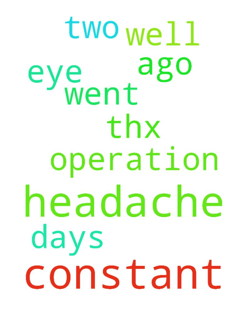 constant headache -  I had an operation on my eye two days ago, all went well, but i have constant headaches. thx for praying  Posted at: https://prayerrequest.com/t/zuu #pray #prayer #request #prayerrequest