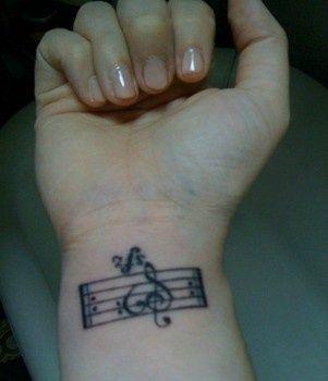 music wrist tattoo - Google Search