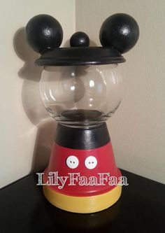 Mickey Mouse Inspired Faux Gumball Machine by LilyFaaFaa on Etsy