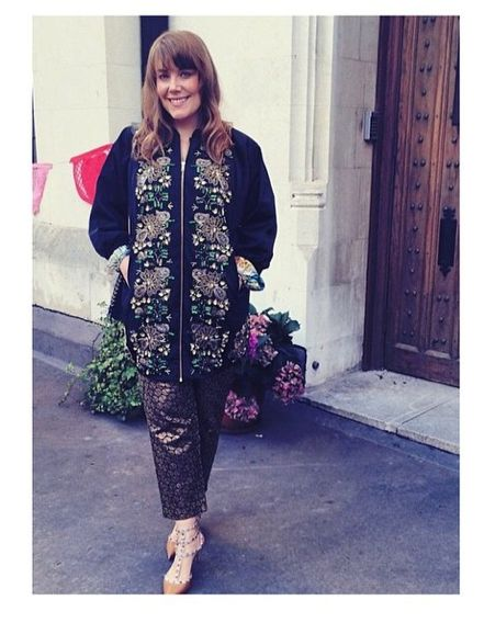 Fashion Editor Jenny Frederiksson from ELLE Sweden in our beautiful statement piece Night Zenith jacket from our NI14 collection.