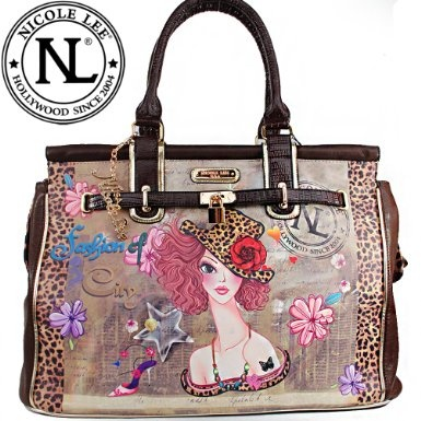 Click Here and Buy it On Amazon.com $59.99 Amazon.com: Nicole Lee Sunny Print Overnight Duffel Tote Gitana Vintage Sunny Print Pad Lock Duffel Tote Bag Handbag Hollywood Celebrity Classic Vintage Illustrative Print Animal Print Satchel Handbag Purse (Carry On Size) in Coffee Leopard: Clothing