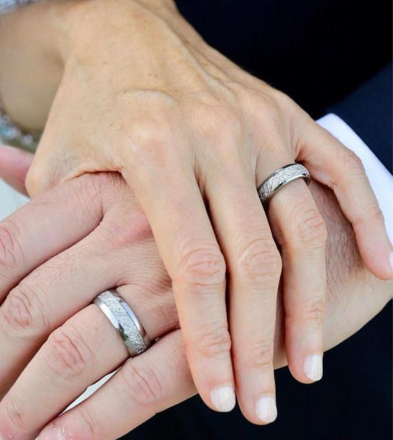 Meteorite Ring Tungsten Wedding Bands Meteorite Wedding Bands