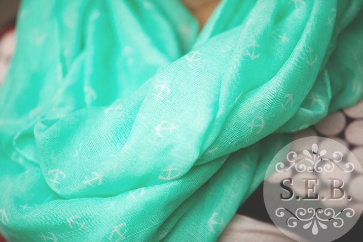 Lovely Infinity Anchor Scarf.  Only $6.99!