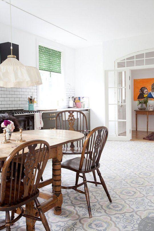 Look! Gorgeous Pastel Kitchen Floor Tiles ? Kitchen Inspiration