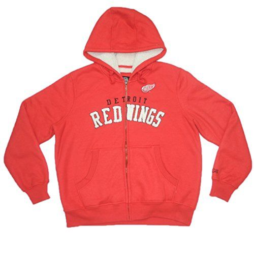 NHL Detroit Red Wings Womens Athletic ZipUp Hoodie  Jacket L Red >>> To view further for this item, visit the image link.(This is an Amazon affiliate link and I receive a commission for the sales)