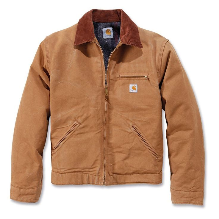 Carhartt .EJ001.BRN.S005 Duck Detroit Jacket, Medium, Brown: Amazon.co.uk: DIY & Tools
