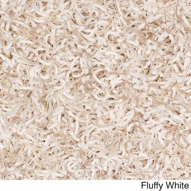 Shaw Bling Collection Nylon/Polyester Super-shag Oversized Area Rug (12' x 15') (Z6809-121 Fluffy White), Beige, Size 12' x 15'