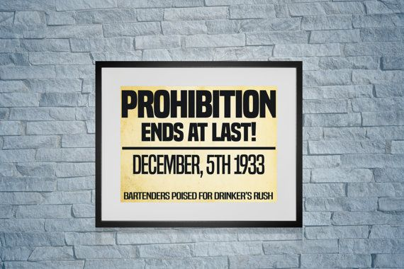 BAR ART Prohibition Ends Old Newspaper Headline Art Print For You To Print Instant Download Comes In 5 Sizes (YOU GET ALL 5) 9.5 x 7.5(For a 11 x