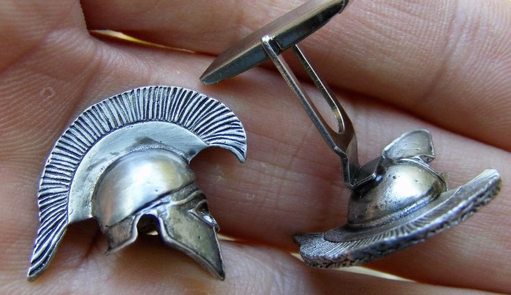 Vtg MEN's Metal CUFF LINKS Roman Gladiator Trojan Helmet 3D Centurion RARE MINT | Jewelry & Watches, Men's Jewelry, Cufflinks | eBay!