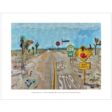 David Hockney Pearblossom Highway (mini print)